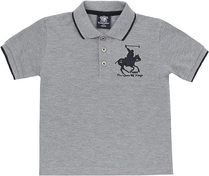 Boys T-Shirt Horse Embroidery Polo Cotton Top Age 2 3 4 5 6 7 8 9 10 11 12 13 Yr