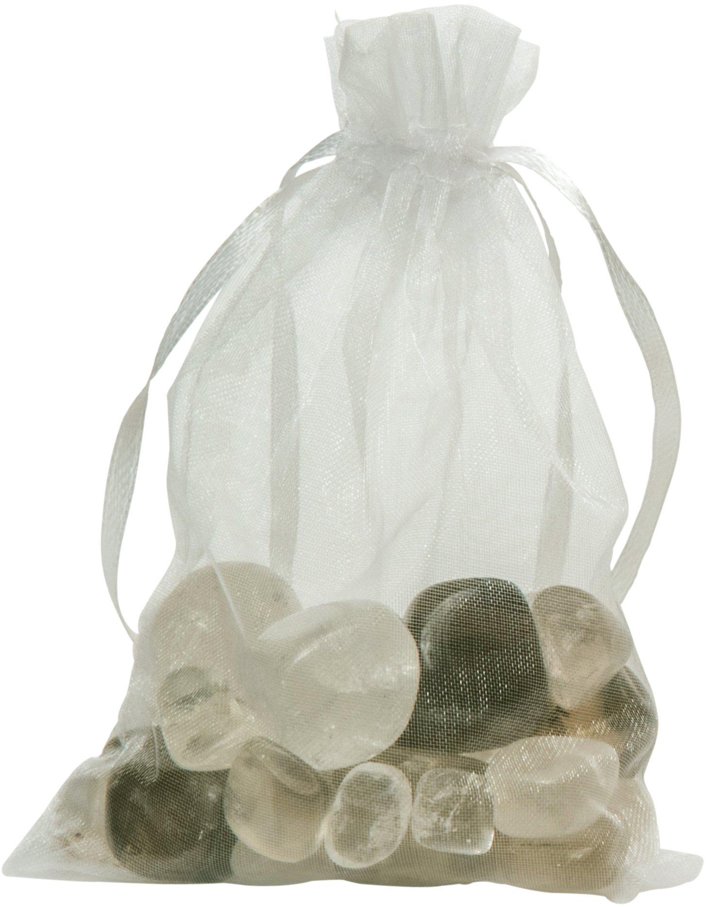 Gemstone Well Additional Gemstone Set for Elixir2Go Gemstone Water Bottle   Loose Tumbled Gemstones for Making Gemwater   Crystal Set for Crystal Elixir Water Bottle (Smoky Quartz & Clear Quartz)