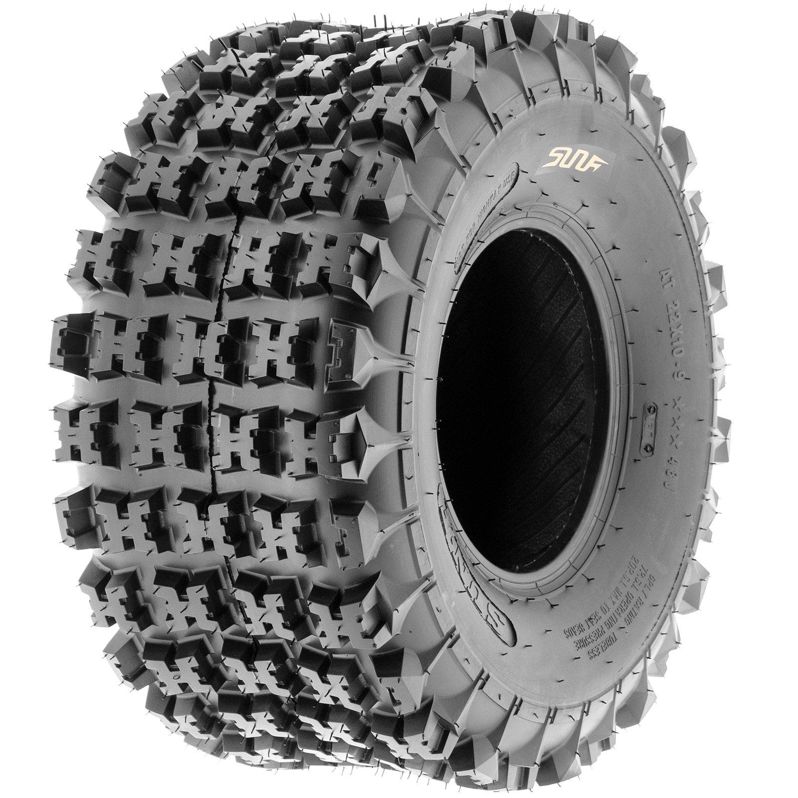 SunF A027 XC-Sport ATV/UTV Knobby Tire 22x10-9, 6 PR, Tubeless