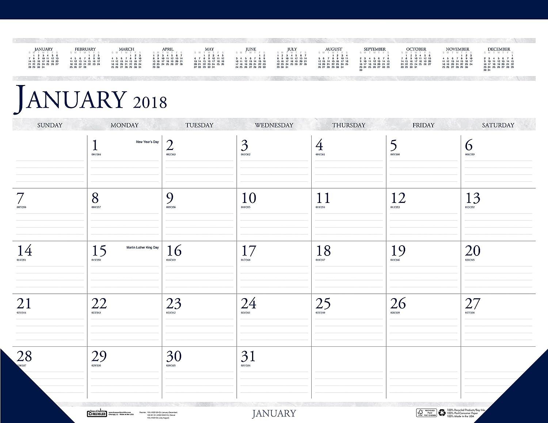 House of Doolittle HOD1506-18 2018 Monthly Desk Pad Calendar, Classic, 18.5 x 13, January-December 18.5 x 13