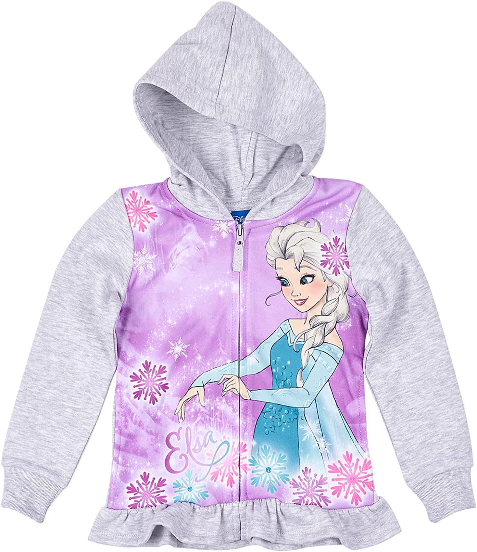 Disney La Reine des neiges Fille Sweat zipp/é /à Capuche Gris
