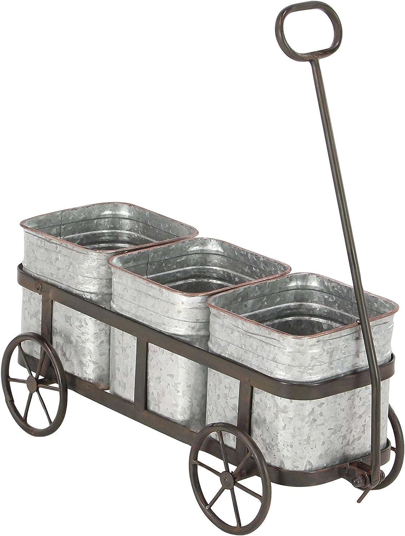 Deco 79 94680 Planter, Gray/Silver