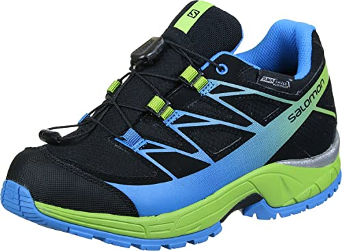 Salomon L39055500, Zapatillas de Trail Running para Niños, Negro (Black/Granny Green