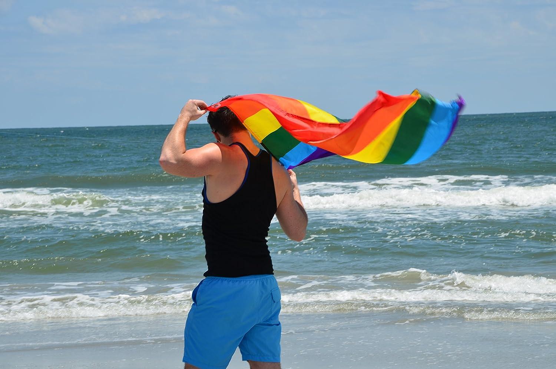 RainbowCapes Gay Pride Rainbow Flag Cape Costume