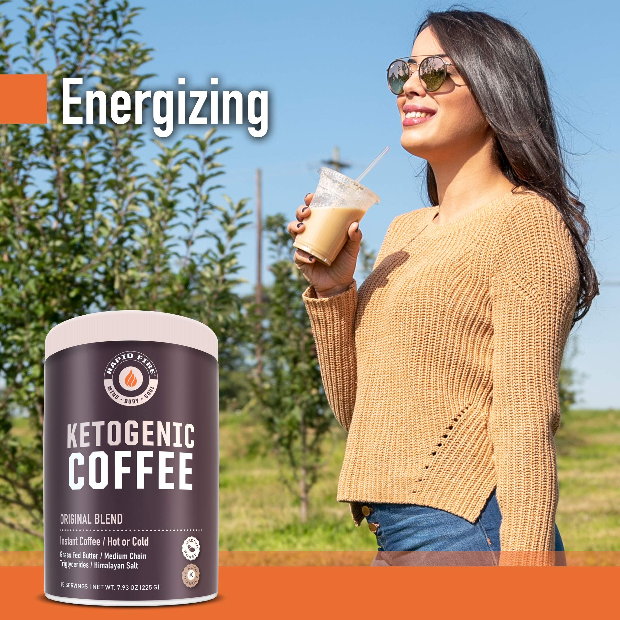 Rapid Fire Ketogenic Fair Trade Instant Keto Coffee Mix, Supports Energy & Metabolism, Weight ...