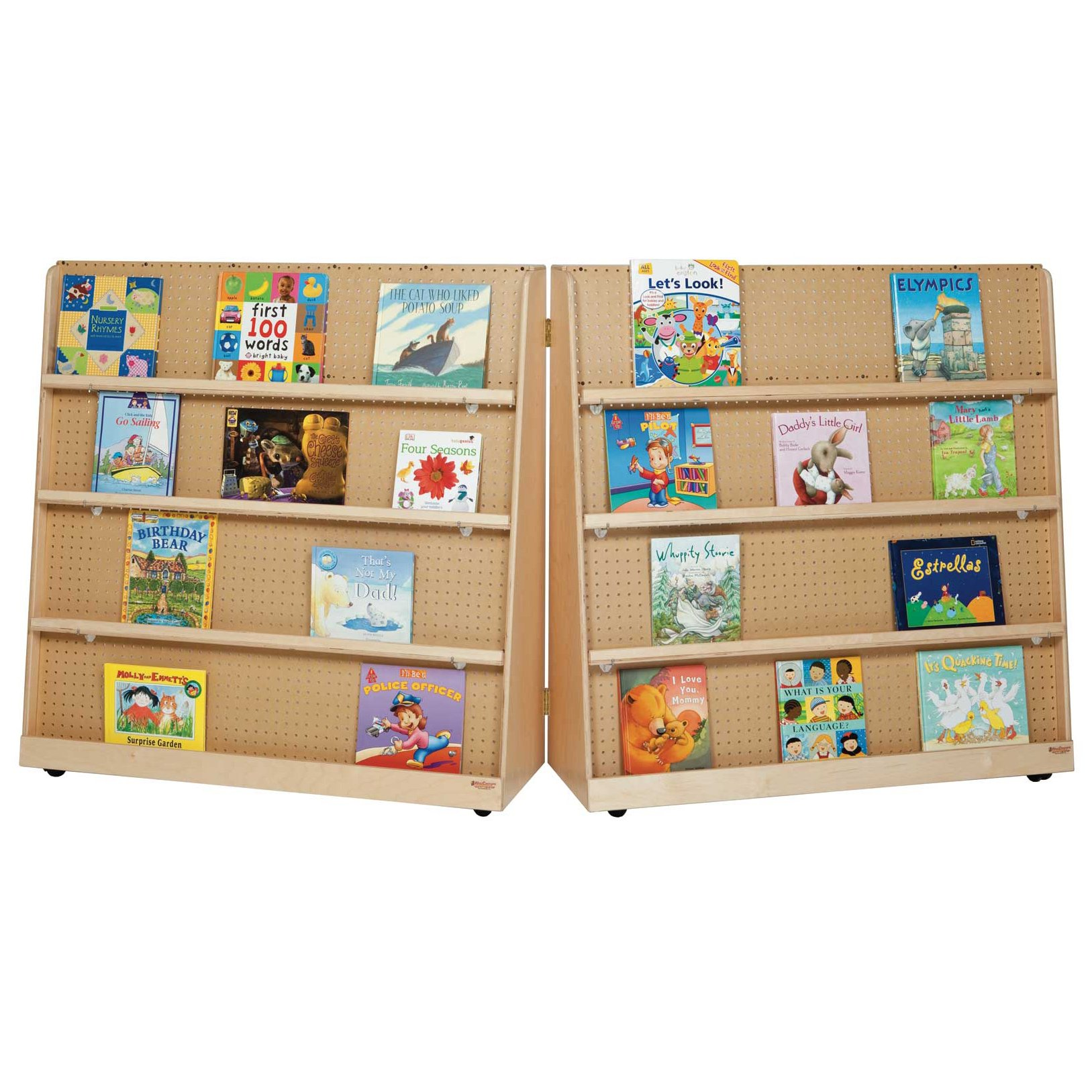 Wood Designs 14343 Double Sided Folding Book Display, 48'' Height (Pack of 2)