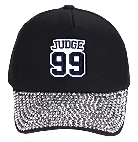 5b355493f7e Image Unavailable. Image not available for. Color  Aaron Judge  99 Hat - New  York - Adjustable Unisex Black Studded Baseball Cap
