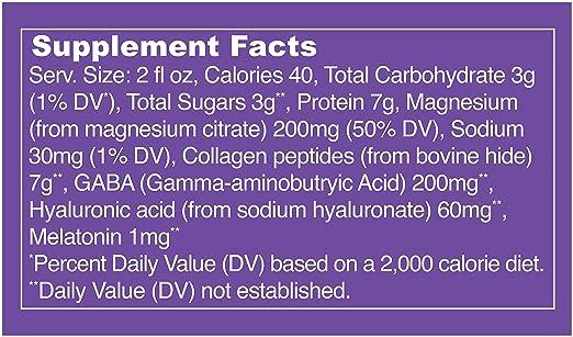 Amazon.com: Vital Proteins Collagen Wellness Shot - Sleep, 12 Pack - GABA, Magnesium, and Melatonin: Health & Personal Care