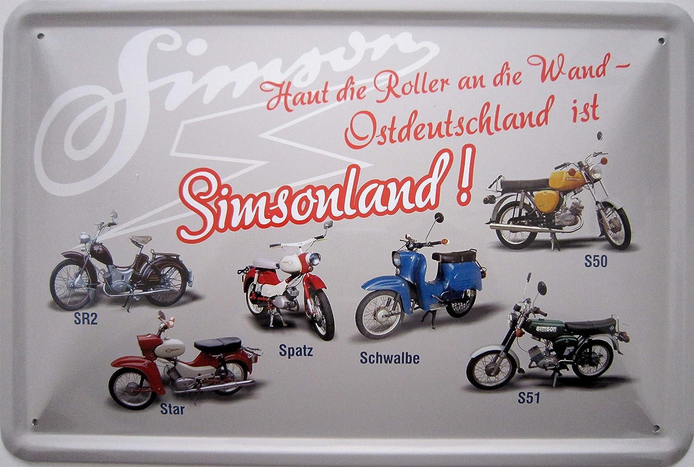 Vielesguenstig 2013 Blechschild 20x30cm Haut Die Roller An Die Wand Ostdeutschland Ist Amazon De