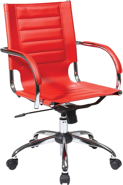 Amazon Com Osp Home Furnishings Trinidad Office Chair Red Furniture Decor
