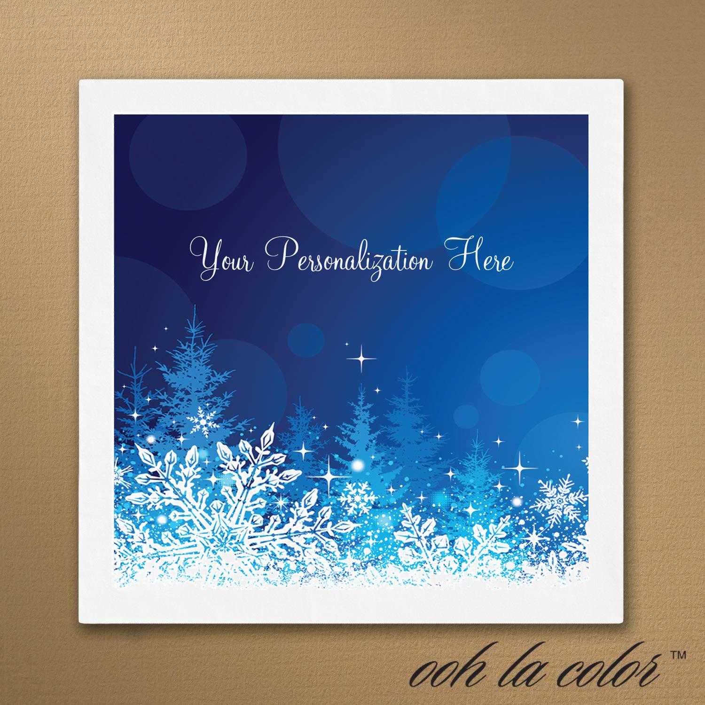 850pk Snowflakes Napkin-Personalized Napkins