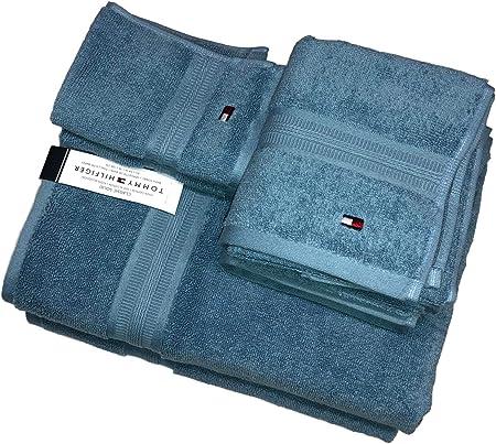 Tommy Hilfiger Classic - Juego de Toallas (6 Piezas, 100% algodón), Color Azul: Amazon.es: Hogar