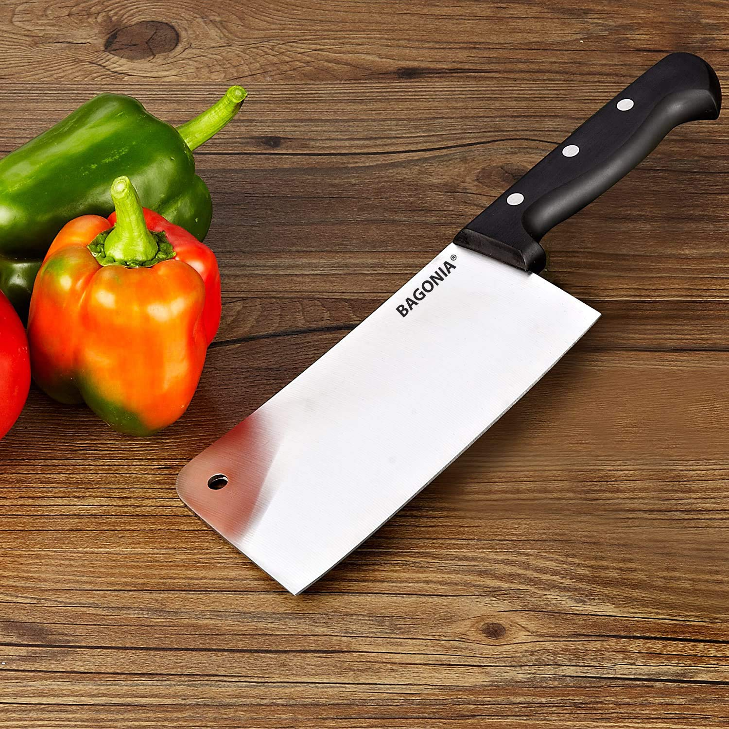 Bagonia Chopper Knife Cleaver Stainless Steel Multipurpose Use For Meat Cutting In Home Kitchen Or Restaurant Random Color Big Knife Buy Online In Azerbaijan At Azerbaijan Desertcart Com Productid 121755612