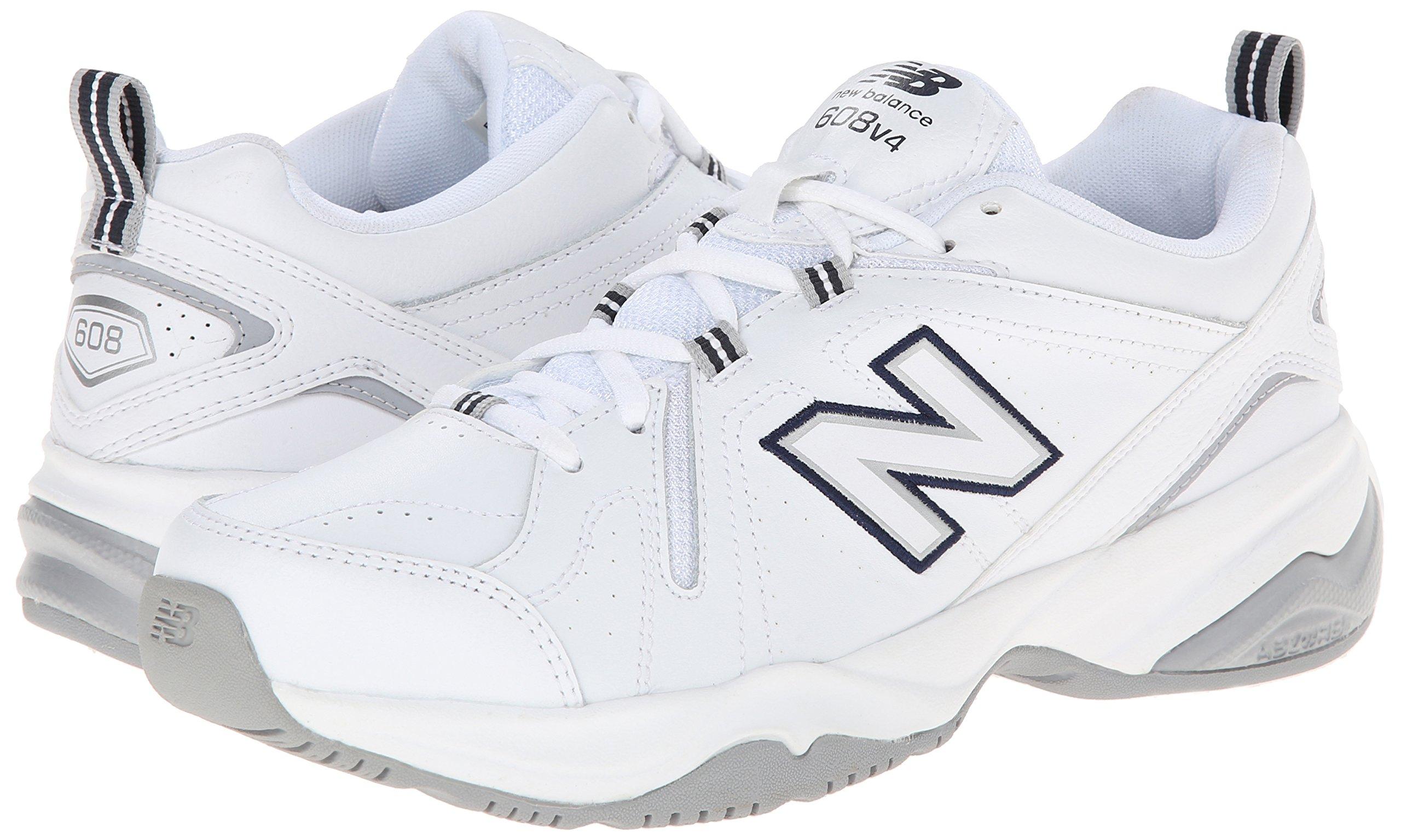 New Balance Women's WX608v4 Training Shoe, White/Navy, 8.5 D US by New Balance (Image #6)