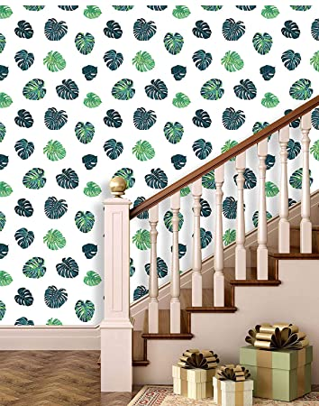 Buy Printelligent Watercolor Tropical Plants Leaves Wallpaper Peel And Stick Wallpaper Self Adhesive Home Decor Wallpaper Online At Low Prices In India Amazon In
