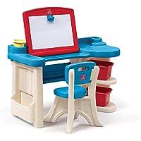 Step2 843100 Kids Desk Azul, Café, Rojo De plástico - Escritorios para niños (Azul, Café, Rojo, De plástico, 34 kg, 2 Año(s), CE EN 71, EE.UU.)
