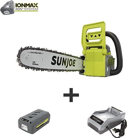 Amazon.com: Sun Joe iON16CS sierra de cadena inalámbrica de ...