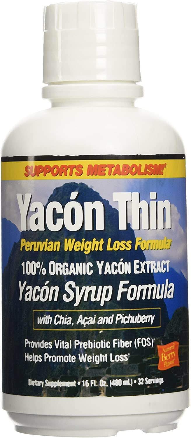 Yacon Thin Peruvian Weight Loss Formula Natural Berry Flavor