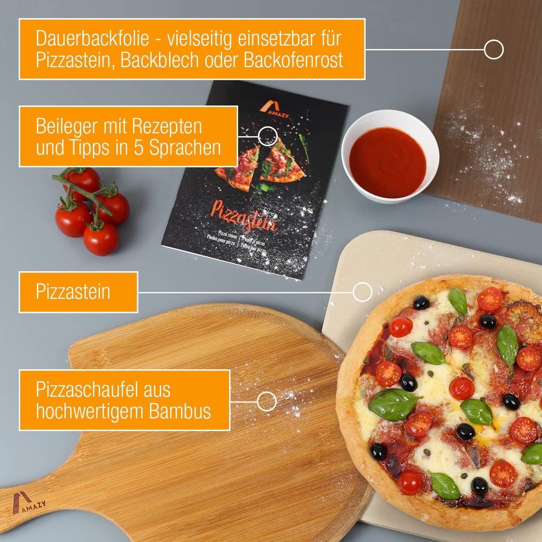 Pietra lavica refrattaria dell/'Etna teglia da forno pizza pane 40x30x2 piastra