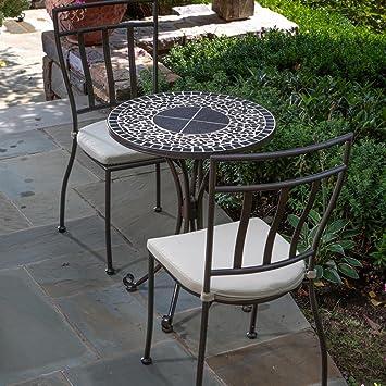 Alfresco Home Vulcano Round Mosaic Bistro Set, 24 Inch