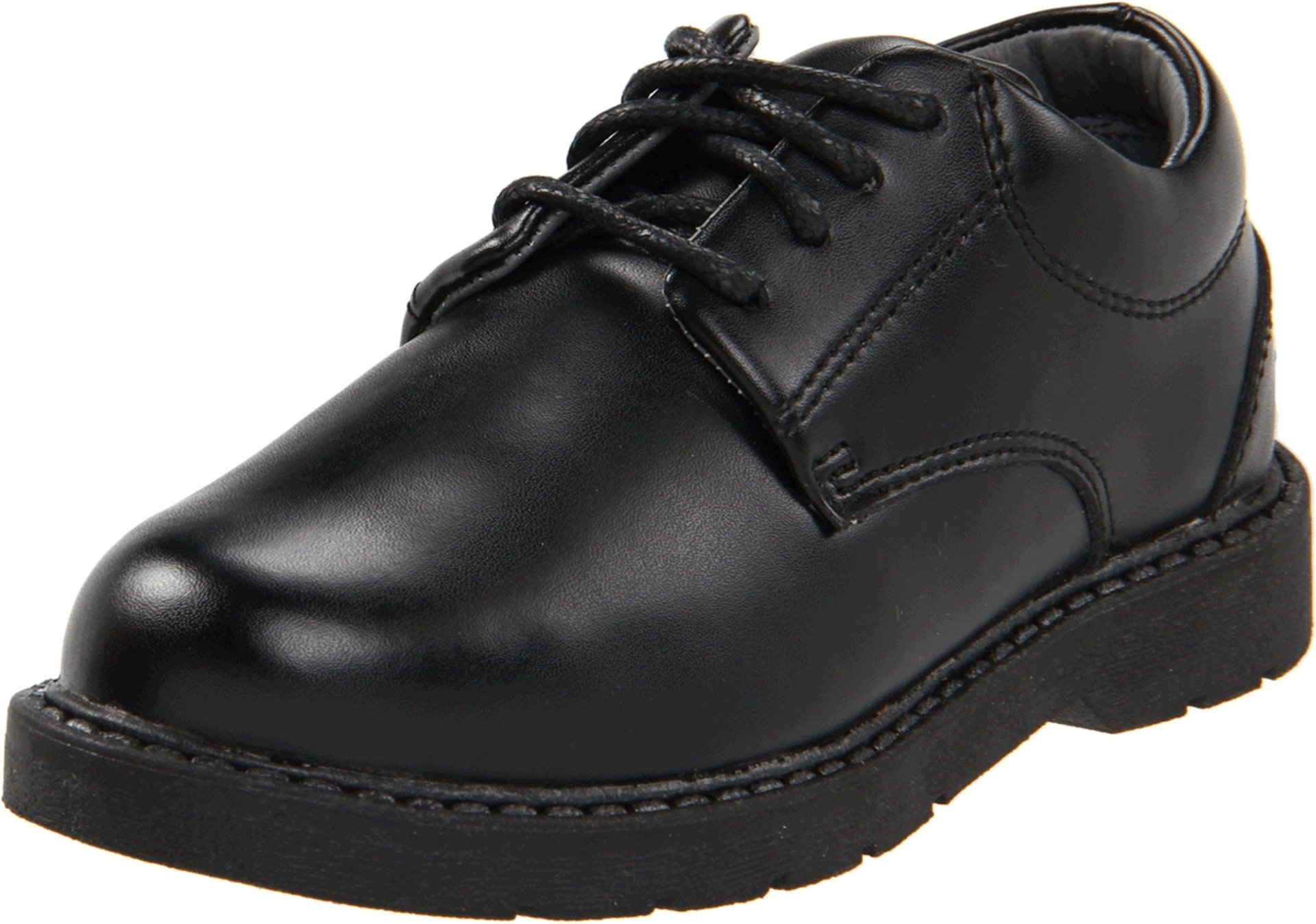 School Issue Scholar 5200 Uniform Shoe (Toddler/Little Kid/Big Kid),Black Leather,12 W US Little Kid