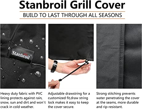 Fits Char-Broils The Big Easy Oil-Less Turkey Fryer Stanbroil Heavy Duty Waterproof Dome Smoker Cover