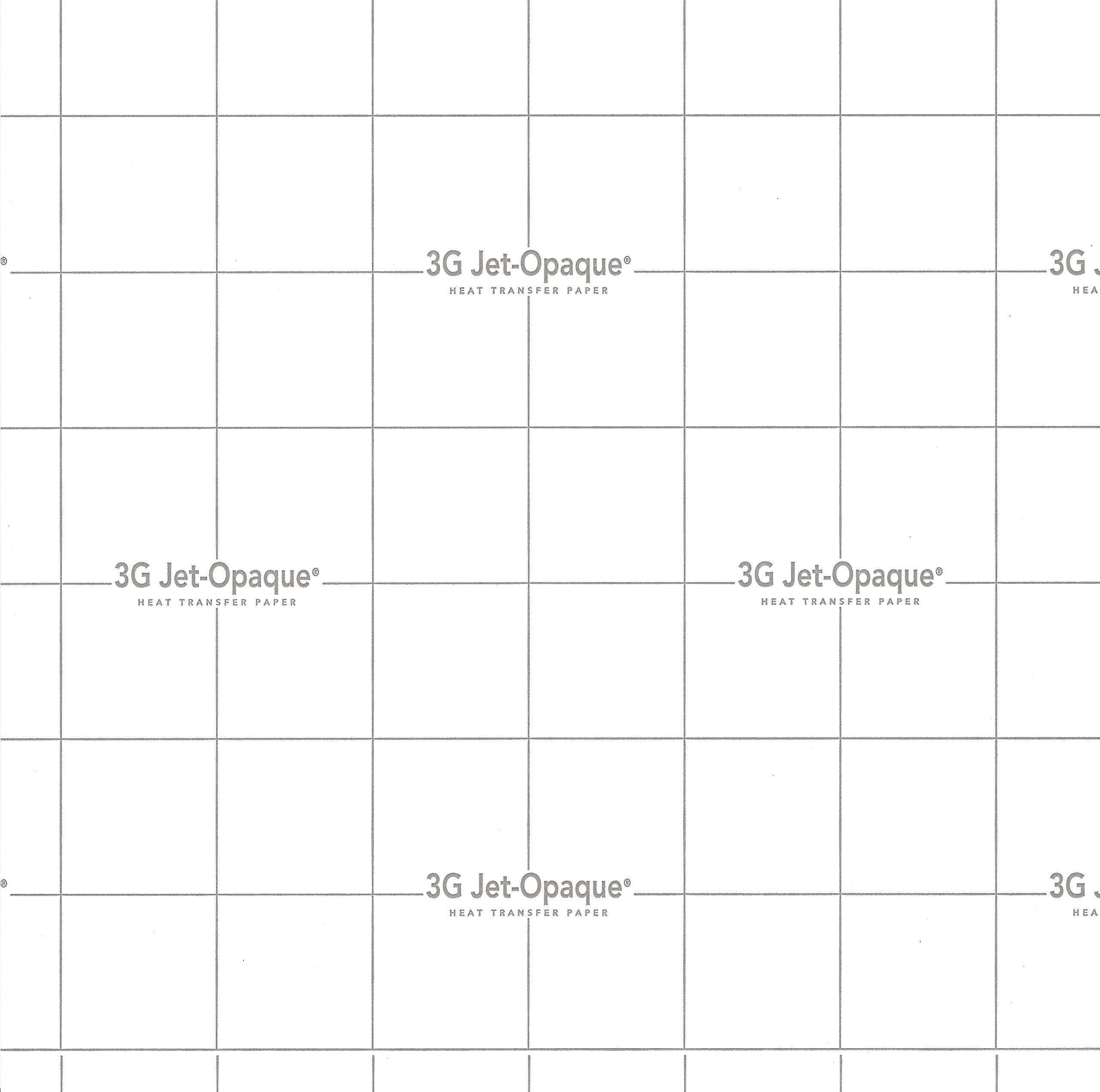 Inkjet Opaque Heat Transfer Paper - 3G Jet Opaque - 8.5'' X 11'', 50 Sheets by Neenah