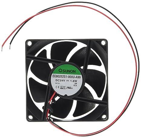Velleman 227007 - Ventilador Sunon, 24 V CC, 80 x 80 x 25 mm ...