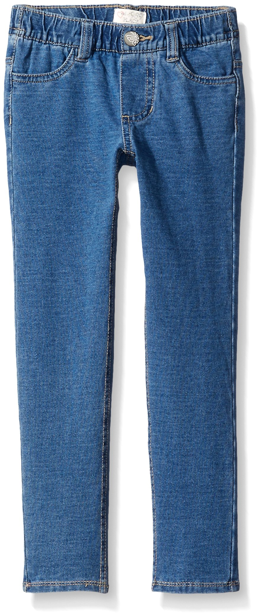 The Children's Place Little Girls' Knit Denim Jegging, Blue Mist Wash, 5
