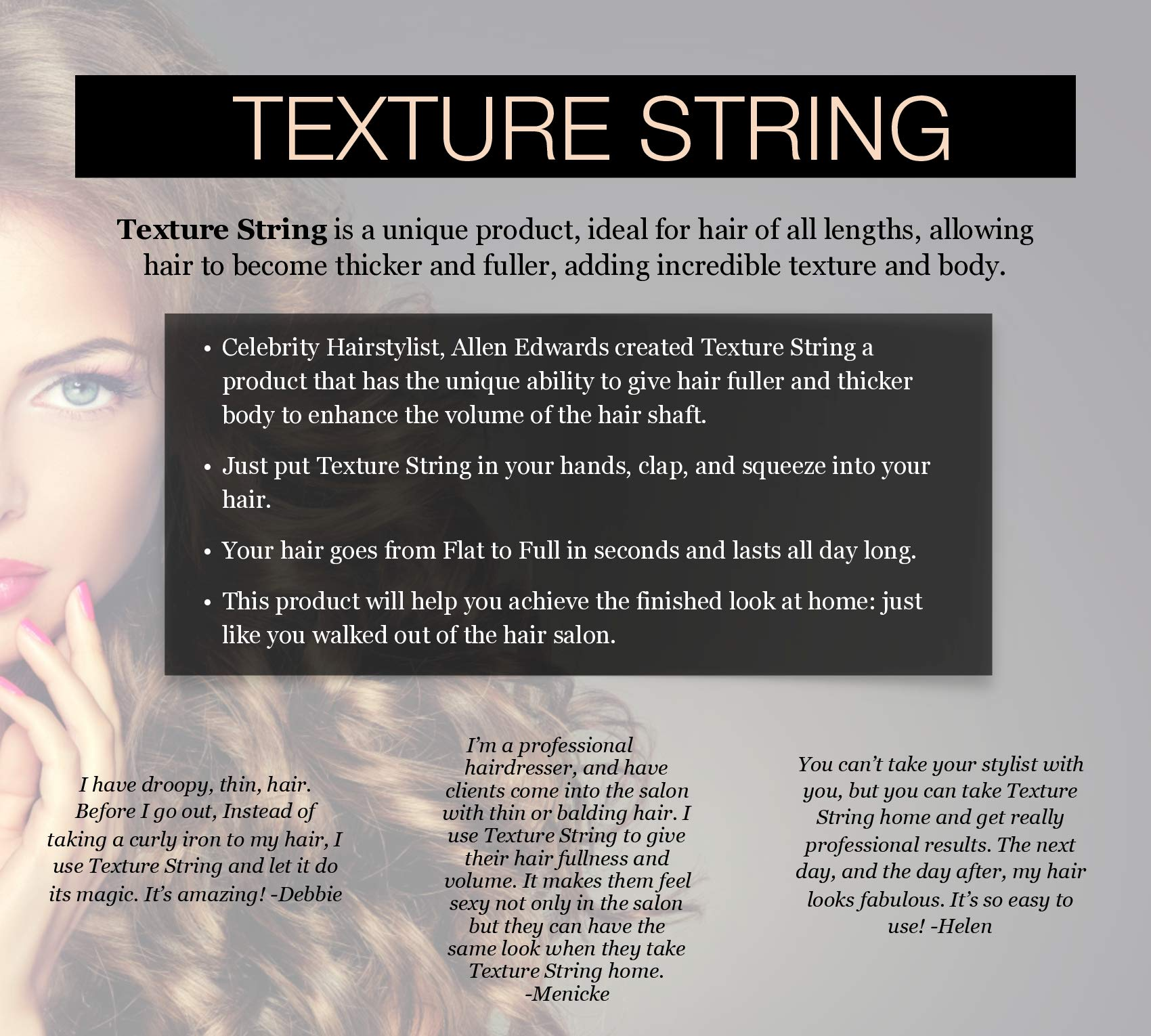 Allen Edwards Texture Defining String Hair Styling Aid by ALLEN EDWARDS (Image #2)