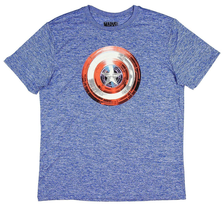 Amazon.com  Marvel Mens  Captain America Shield Winter Soldier T-Shirt  Heather Blue  Clothing a94807f7d