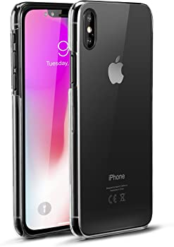 Ubittek Thin Fit Case with Premium Clear Hard PC for iPhone X