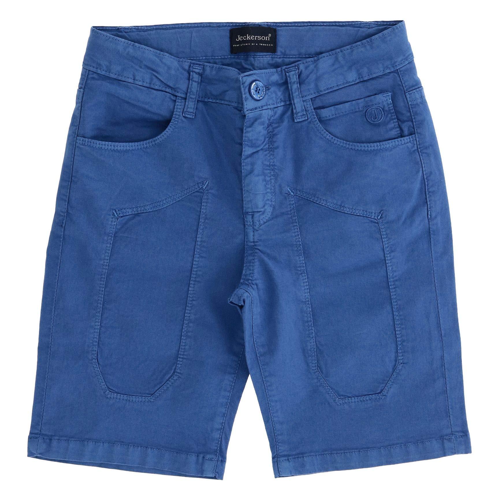 Jeckerson Boys J964blue Blue Cotton Shorts