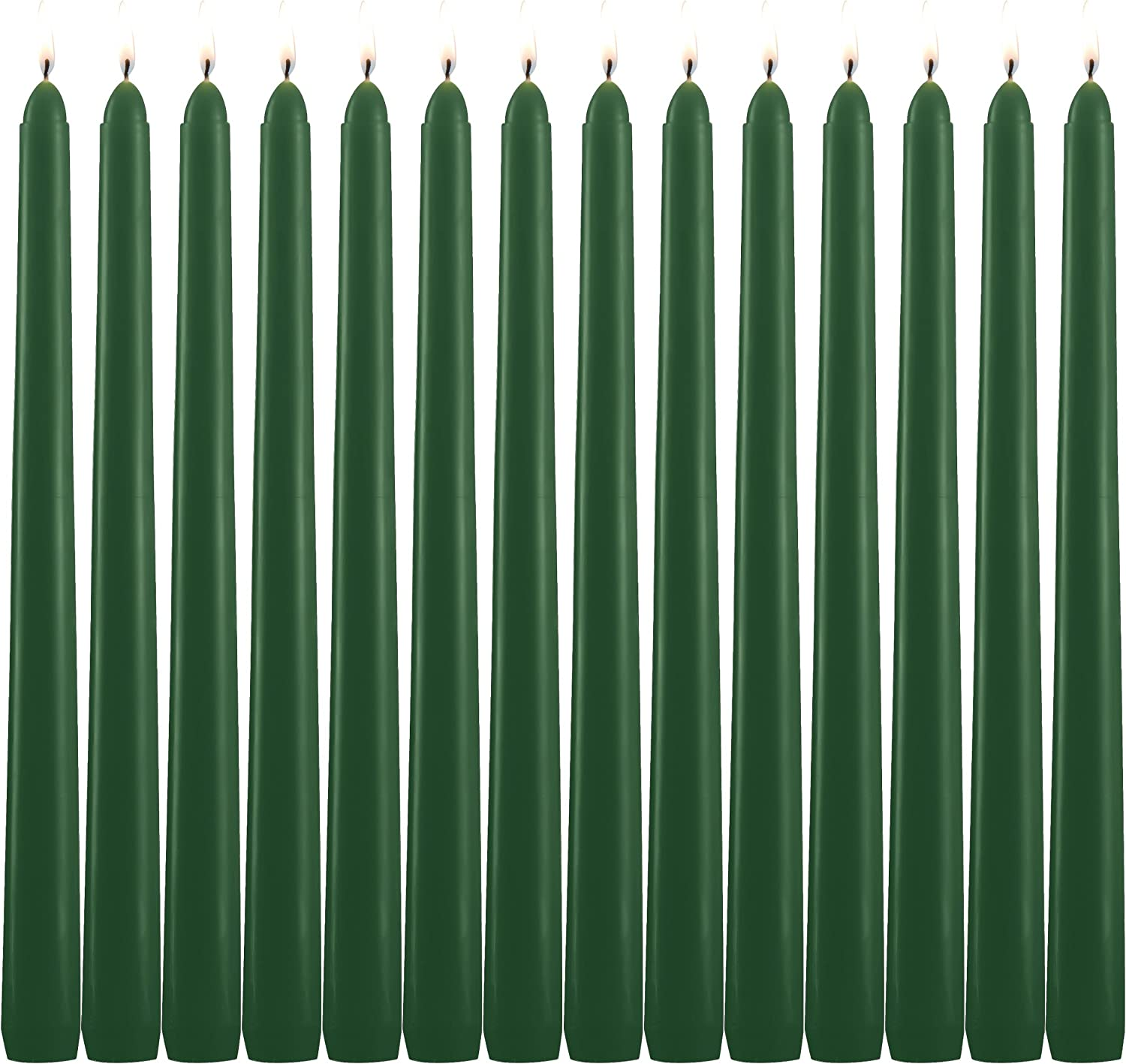 14 Black Taper Candles 10 Inch Tall 3//4 Inch Thick Burn 7.5 Hours Color Is Core and Overdip
