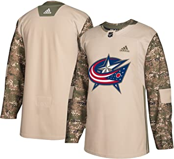 outlet store 7e4a9 04d08 adidas Columbus Blue Jackets NHL Veterans Day Jersey