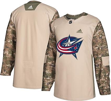 c050427e1 Amazon.com   adidas Columbus Blue Jackets NHL Veterans Day Jersey (M ...