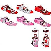 Suncity Pack 6 pares de calcetines cortos (tobilleros) 6 modelos diferentes diseño MINNIE MOUSE (Disney) nums. 23/26-27…