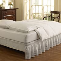 EasyFit Wrap Around Eyelet Ruffled Bed Skirt Queen/King