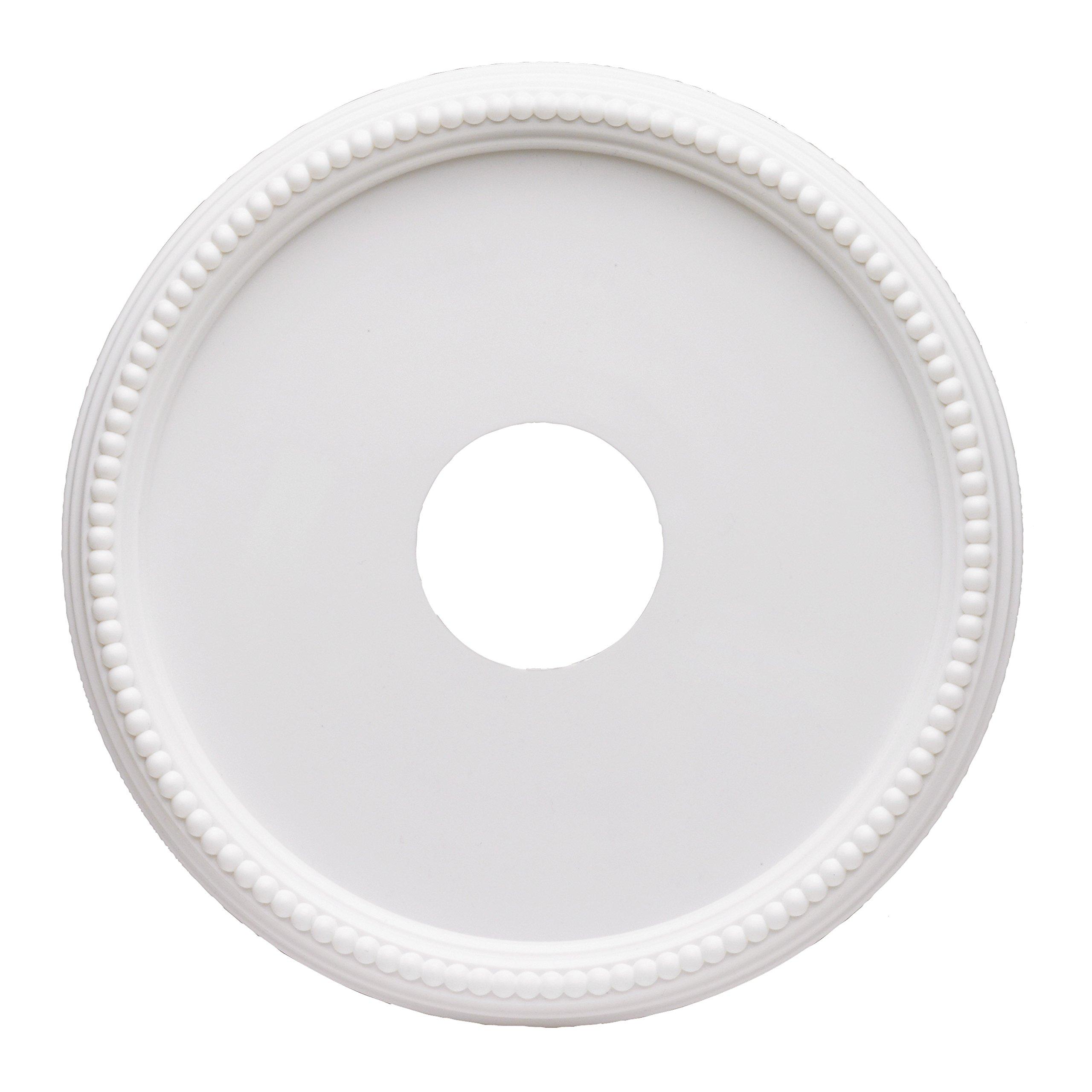 Westinghouse 7773300 15-3/4-Inch Round Beaded White Finish Ceiling Medallion