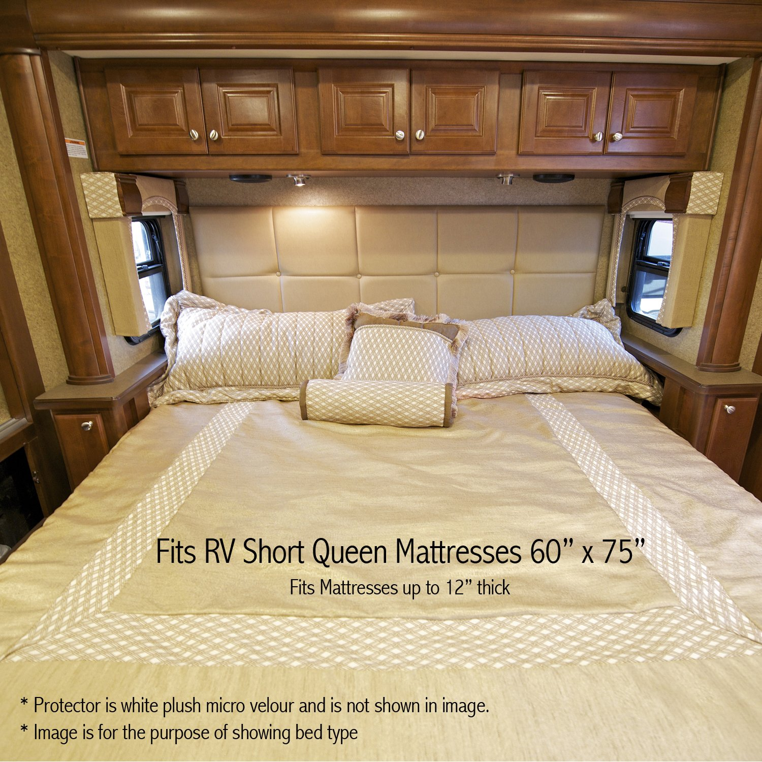 beds short rv mattress queen sized