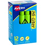 HI-LITER Desk Style 12 per pack Fluorescent Green