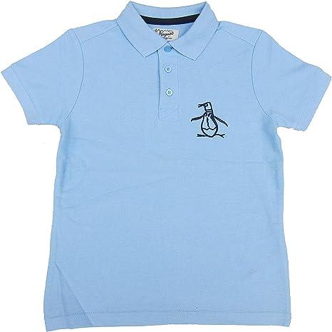 Penguin Niños Polo Camiseta Celeste Camiseta 100% Cotton Edad 6 ...