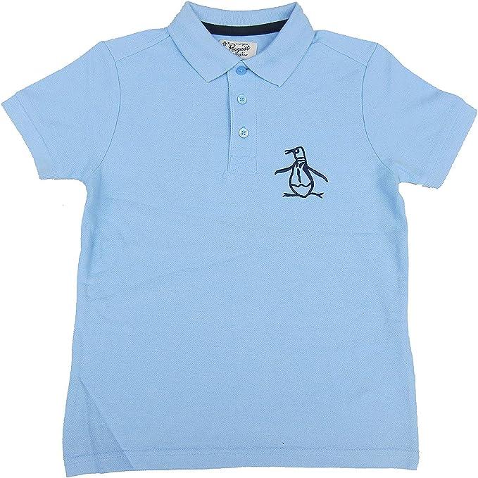 Penguin Niños Polo Camiseta Celeste Camiseta 100% Cotton Edad 6 Años hasta 13 Años - Azul Claro, 12-13 Años / 152-158cm: Amazon.es: Ropa y accesorios