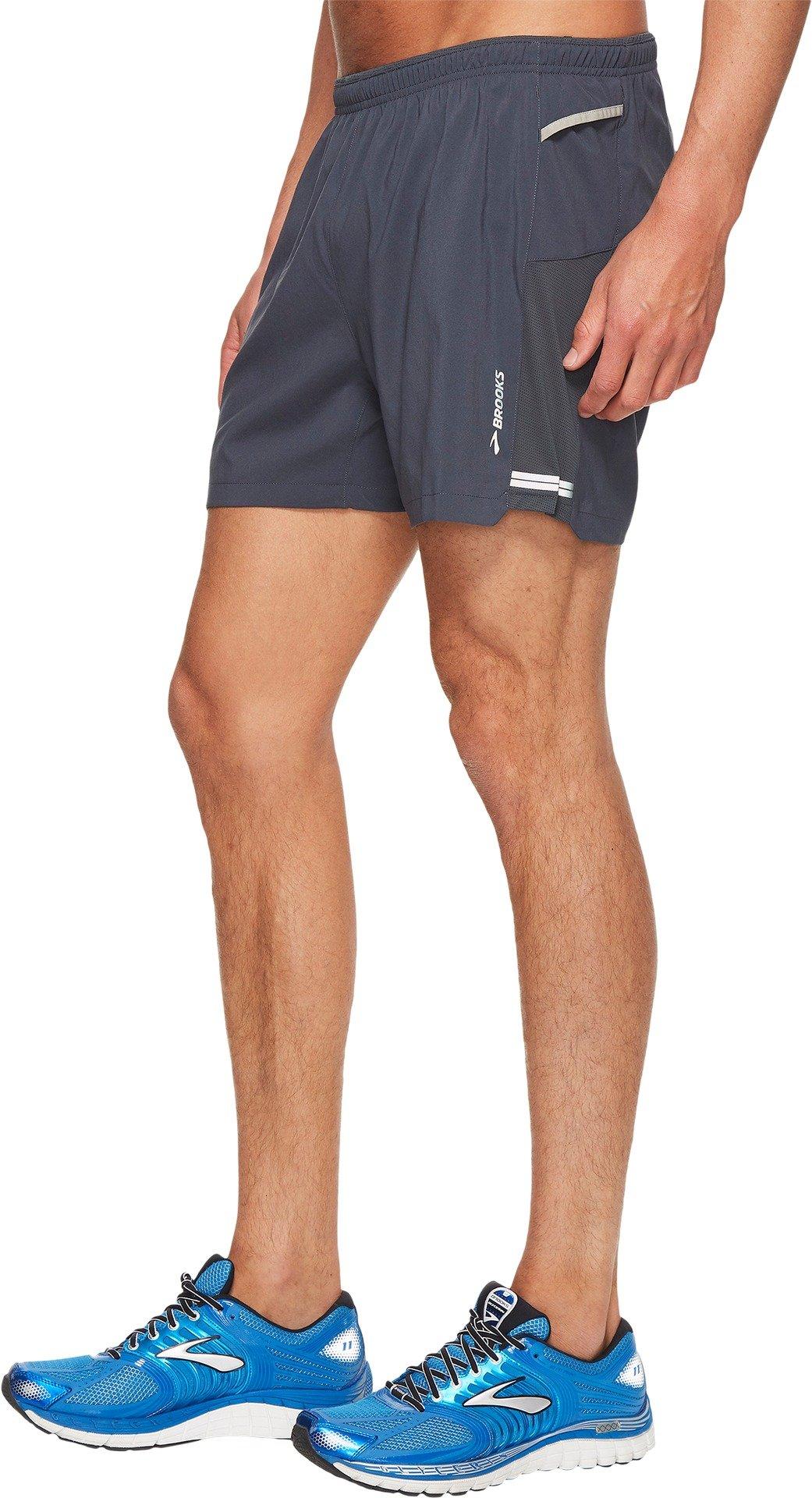 Brooks Men's Sherpa 5'' Shorts Asphalt Medium 5 by Brooks (Image #2)
