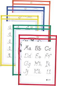 Reusable Dry Erase Pockets Set of 5