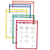 Amazon Price History for:C-Line Reusable Dry Erase Pockets, 9 x 12 Inches, Assorted Primary Colors, 10 Pockets per Pack (40610)