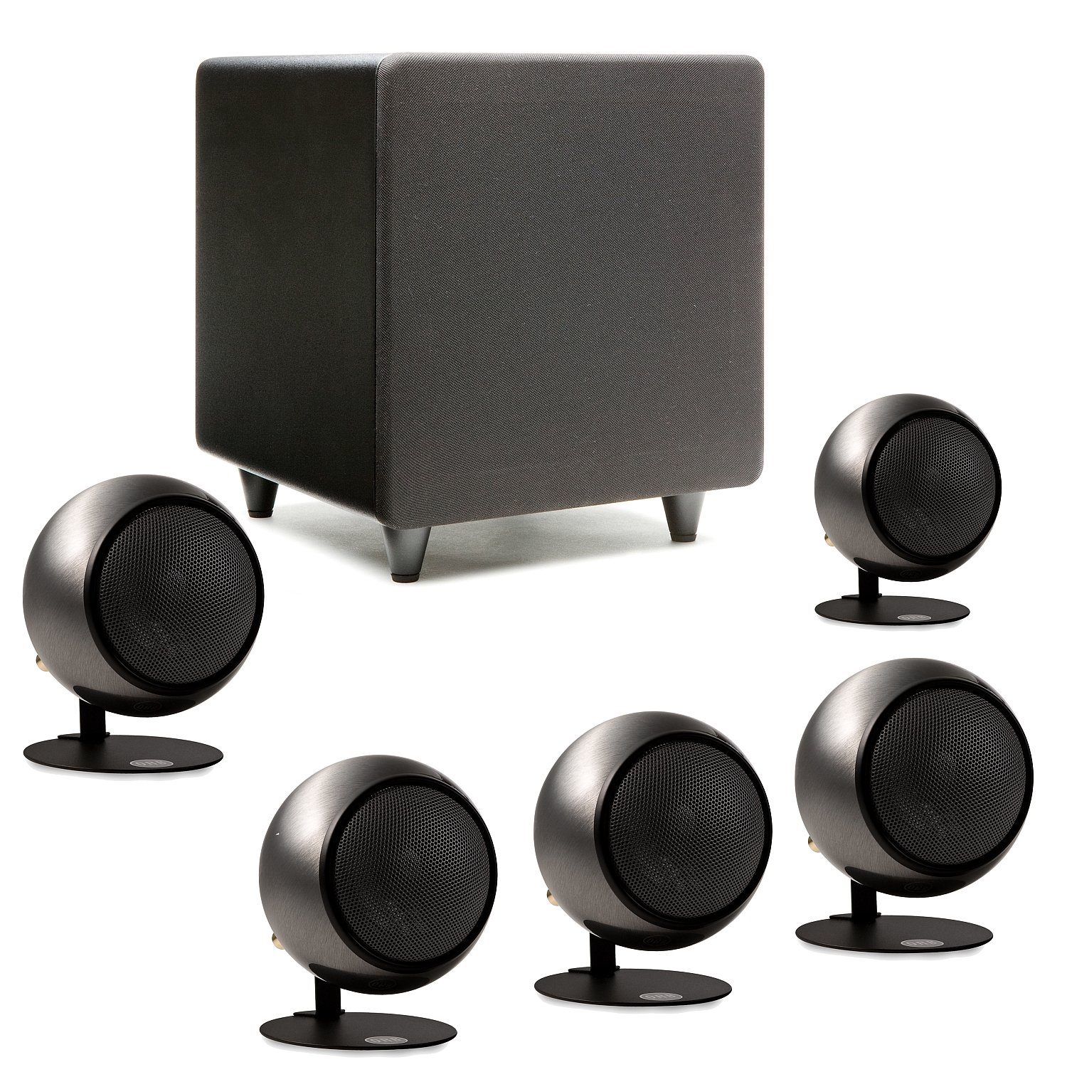 Orb Audio Mini 5.1 Home Theater Speaker System (Polished Steel) by Orb Audio LLC