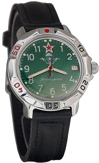 Vostok Komandirskie Mens Mechanical Russian Military Wrist Watch #811307