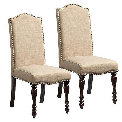Standard Furniture Mcgregor 2 Pack Upholstered Side Chairs Beige