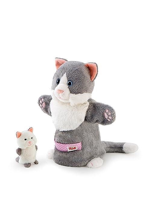 Trudi - Marioneta de Peluche Gata con Gatito (29993)